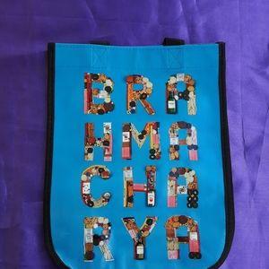 Lululemon small blue BRAHMACHARYAshopping bag.